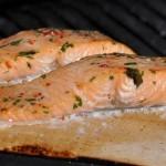 Salmon-on-plank