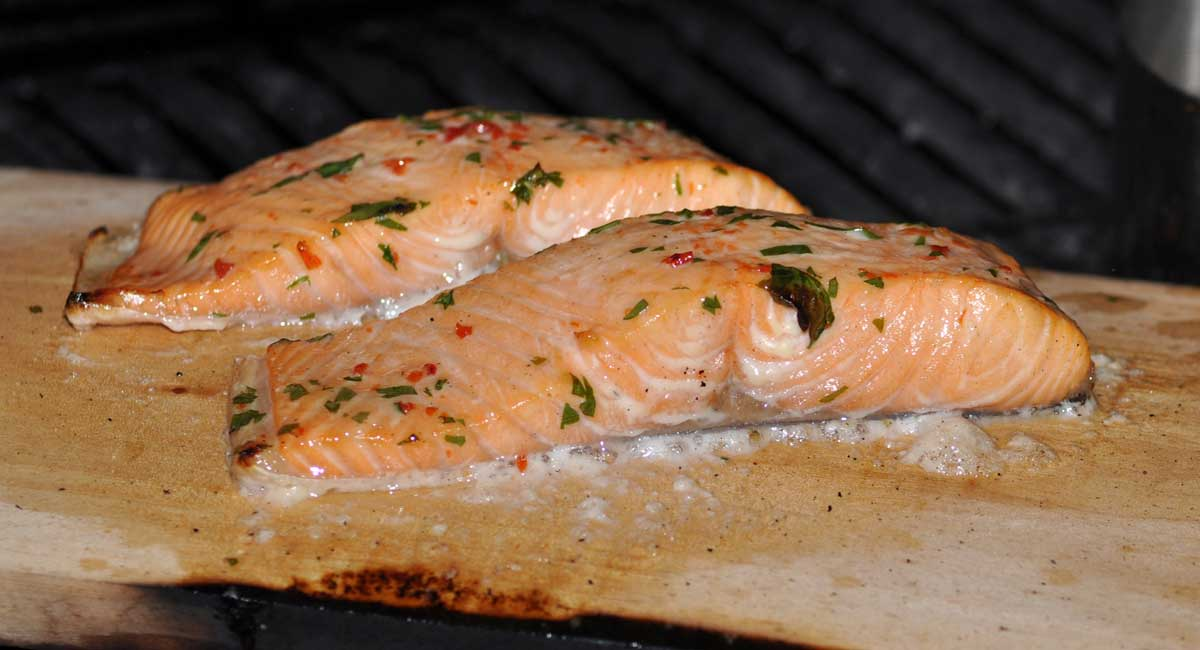 Salmon with chilli and coriander