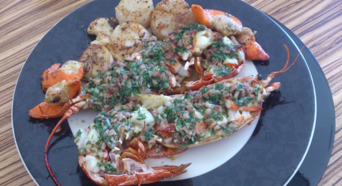 Lobster with parsley butter